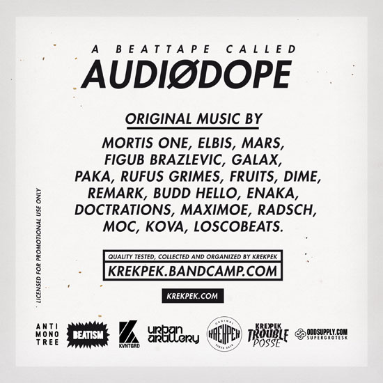 AudioDope Beattape 2012 back